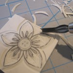 flower stamp finishing