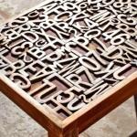 typographic coffee table